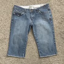 Billabong Womens Size 7 Low Rise Cut Off Denim Blue Jean Bermuda Shorts  Photo