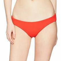 Billabong Womens Swim Red Small S Sol Searcher Lowrider Bikini Bottom 34- 447 Photo