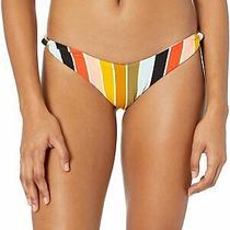 Billabong Womens Swimwear Green Size Small S Striped Bikini Bottom 50 176 Photo