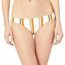Billabong Womens Swimwear Ivory Rust S Striped Lowrider Bikini Bottom 44 885 Photo