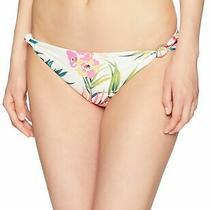 Billabong Womens Swimwear White Ivory Size Small S Floral Bikini Bottom 44 236 Photo