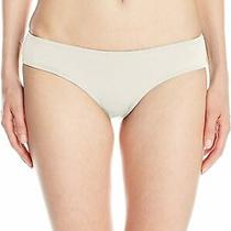 Billabong Womens Swimwear White Ivory Size Small S Ruched Bikini Bottom 35- 409 Photo