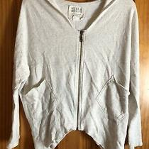 Billabong Zip Hoodie Womens Relaxed Fit Comfy Unfinished Bottom Oatmeal Size S Photo