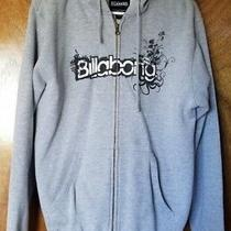 Billabong Zip Up Hoodie Sweatshirt Gray Men's Size L in Good Pre-Owned Condition Photo