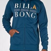 Billabong Zip Up Jacket Fleece Hoody - 'Rap Up' in Blue - Sz M  Photo