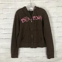 Billabong Zipper Up Hoodie Brown/pink Size Large Fits Snugly Photo