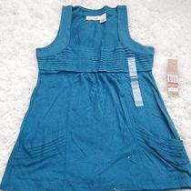 Bin Nwt Dkny Petite Teal Tank Knit Top Size P Photo