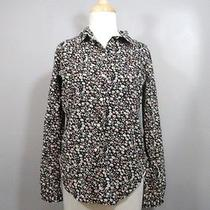 Birds of Paradis by Trovata Anthropologie Floral Patterned Button Up Shirt Xs Photo