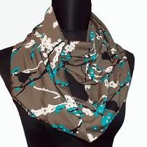 Birds on Flower Branches Print Long Infinity Eternity Scarf Handmade in the Usa Photo