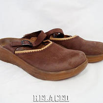 Birkenstcok Tatami 245  Nubuck Leather Slide Maryjane Wedge Clogs  Womens 7 N Photo