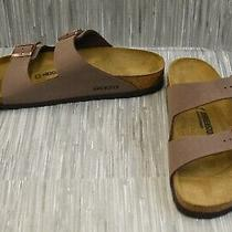 Birkenstock Arizona Birko-Flor Nubuck Footbed Sandals Men's Size 13 Mocha New Photo