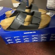 Birkenstock Arizona Black Leather Sandals Size 37 N  390  Photo