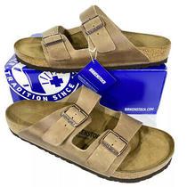 Birkenstock Arizona Bs Men's Size 13 (Eu46)reg Fit Brown Leather Sandals Kb-2316 Photo
