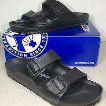 Birkenstock Arizona Eva Mens Size 12/eu 45 Reg Fit Black Slide Sandals X4-721 Photo