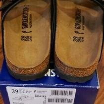 Birkenstock Arizona Sandal for Unisex Size 8 Women/6 Men Us - Black Oiled... Photo