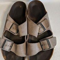 Birkenstock Arizona Tan Suede Soft Footbed Slide Sandals Shoes Women's 8/39 Photo