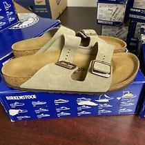 Birkenstock Arizona Taupe Suede Sandals Size 42 N  388  Photo