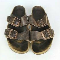 Birkenstock Arizona Women's Habana Brown Leather Sandals Shoes Size 40 / 9 Photo