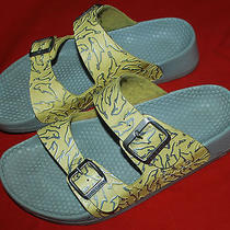 Birkenstock Arizona Yellow Sandals With Dolphin Pattern Women's 8 Us Photo