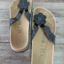 Birkenstock Betula Black Flower Women Summer Trend Sandals Shoe Sz 42 L11 M9 Photo