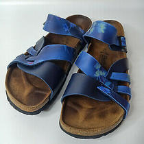 Birkenstock Betula Blue Strap Women Summer Trend Sandals Shoe Sz 41 L10 M8 Photo