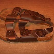 Birkenstock Betula Brown Leather Sandals Womens Size 42(11-11.5) Photo