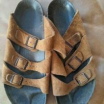 Birkenstock Betula Florida 3 Strap Rust Suede Sandals 40/ Narrow Photo