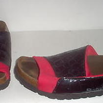 Birkenstock Betula Womens Black Red Sandals Shoes 7 Us Photo