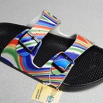 Birkenstock  Birki  Barbados  Rainbow  Sandals  Men  Size 12 R  Eu45 New Photo