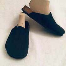 Birkenstock Birki's Black Ribbed Clogs Mules Womens Size 9 Photo