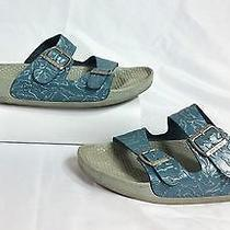Birkenstock Birki's Blue Dolphin Sandals Size 41 (10-10.5 Us) Made in Germany Photo