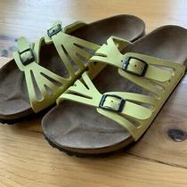 Birkenstock Birki's Sandals Canary Yellow Women Cutout Straps Size 6 37 Photo