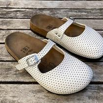 Birkenstock Birki's White Polka Dot Mary Jane Style Mules Size 6 Photo