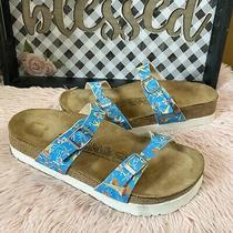 Birkenstock Birkis 260 L9 M7 Starfish Blue Sandals Guc Photo