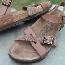 Birkenstock Birkis Lille Cross Strap Womans Sandals  Size 37 L6 M4 Photo