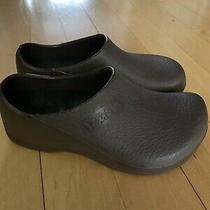 Birkenstock Birkis Womens Brown Rubber Slip on Mule Clogs Sz 36 Us Sz 5 Sandals Photo