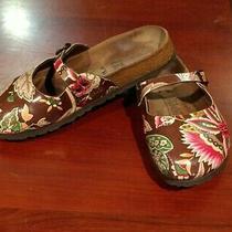 Birkenstock Birkis Womens Sandals Slides Floral Closed Toe Clog Mules Size L7m5 Photo
