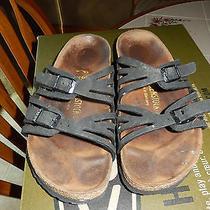 Birkenstock Black Granada Slip on Flats Sandals Size 7 M Photo
