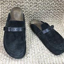 Birkenstock Black Suede Sandals Mules Sz 39 Made in Germany  Photo