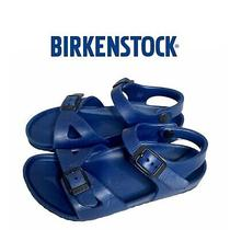 Birkenstock Blue Waterproof Rubber Sandals Toddler Boy Us 10.5/ 11 Eu 28 Birks  Photo