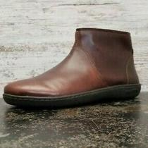 Birkenstock Boots Sz 7 38 245 Brown Leather Side Zip Bootie Made in Germany  Photo