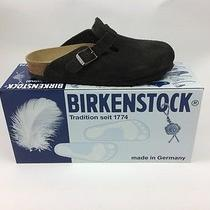 Birkenstock Boston 36n New Mocha Suede Clog Women's 5 Narrow to Medium Free Ship Photo