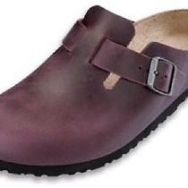 Birkenstock Boston  - Antique Blackberry - 42 Narrow Photo