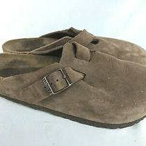 Birkenstock Boston Brown Leather Mules Clogs Shoes Size 40 / 9 Photo