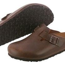 Birkenstock Boston Clogs 260621 Antique Coconut Leather Sandal Slipper Men Photo