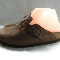 Birkenstock Boston Light Brown Nubuck Clogs Mules Flats Size Eu 36 Us 5 Photo