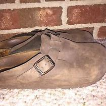 Birkenstock Boston Size 36 L5 Brown Suede  Clogs Mules Shoes Photo