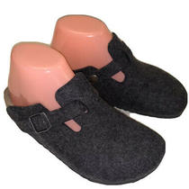 Birkenstock Boston Women's Clogs Gray Wool Mules Shoes Sz 6 Photo