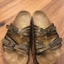 Birkenstock Bronze Metallic Granada 38 Slides Sandals Shoes Rrp 135 Arizona Photo