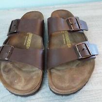 Birkenstock Brown Womens Sz 42  Comfort 2 Strap Slide Sandals L11 M 9 Photo